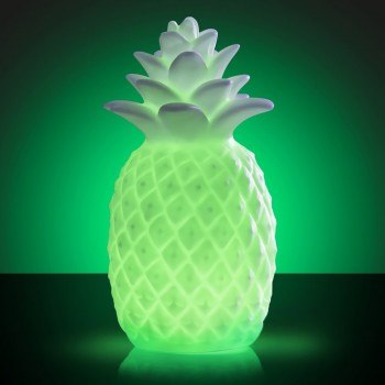 Lampe Ananas LED couleurs changeantes 18,5 cm