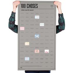 """Poster """"100 choses à faire avant de mourir""""."""