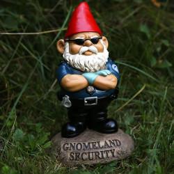 Nain de jardin agent de sécurité