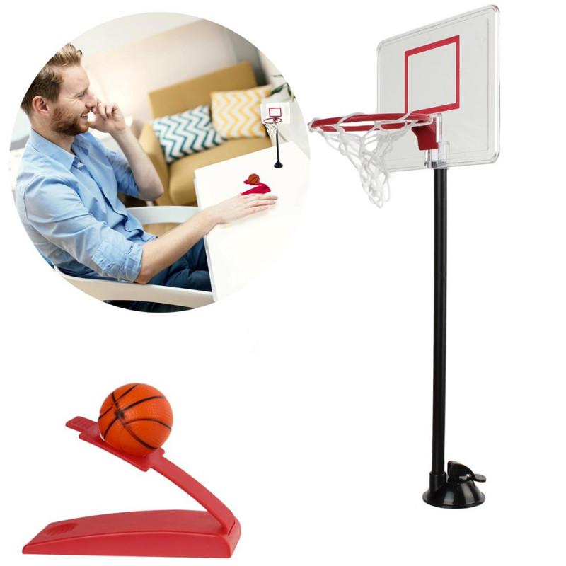 Jeu de basket de bureau inox