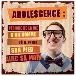 Plaque métal Adolescence