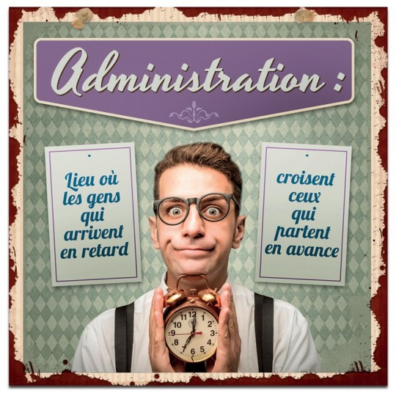 Plaque métal Administration