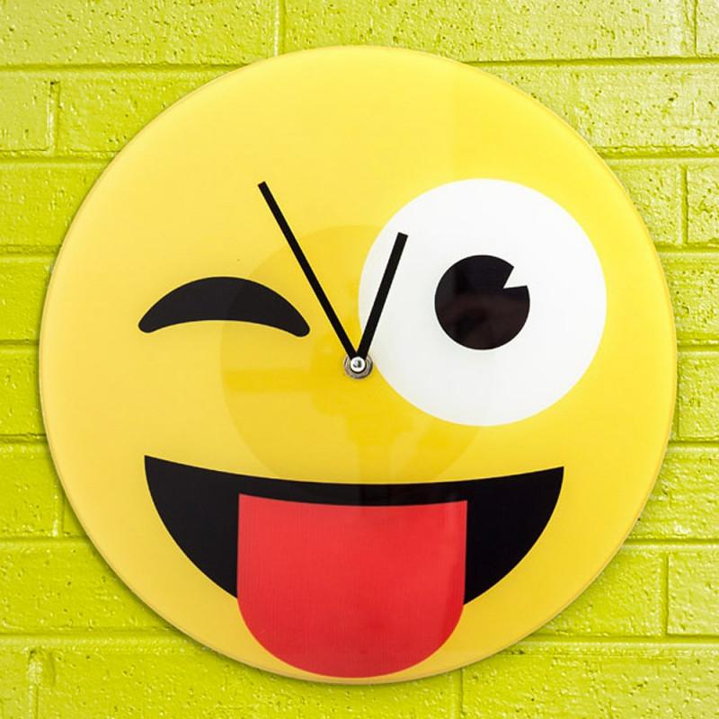 Horloge Emoji Espiègle