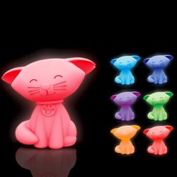 Veilleuse petit chat lumineux