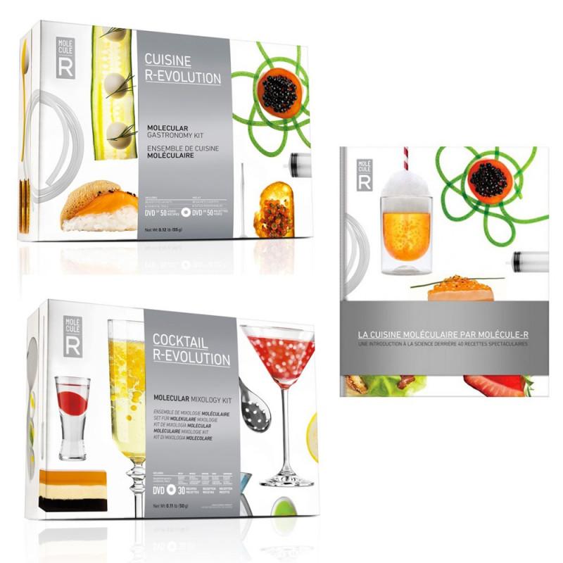 Kit cocktail + cuisine moléculaire + livre gratuit