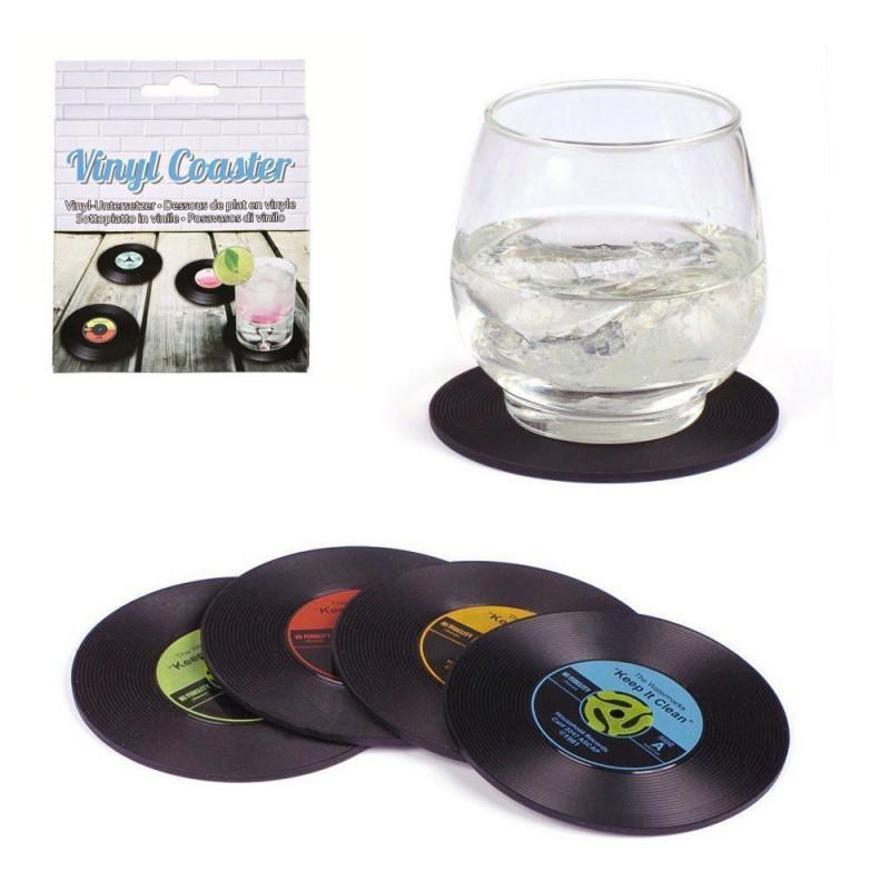 4 Dessous de verre disque vinyle