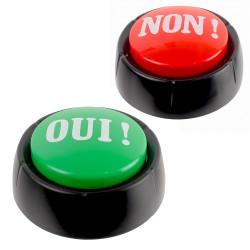 Deux boutons Buzzer Oui et Non