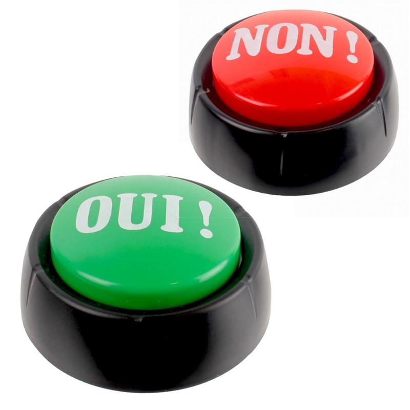 2 boutons Buzzer Oui et Non