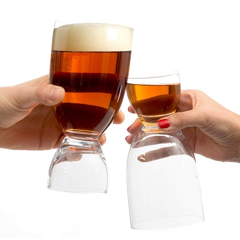 Verre à bière shooter 2 en 1