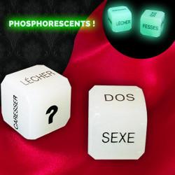 Dés érotiques coquins phosphorescents