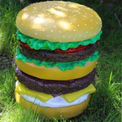 Pouf Hamburger en résine