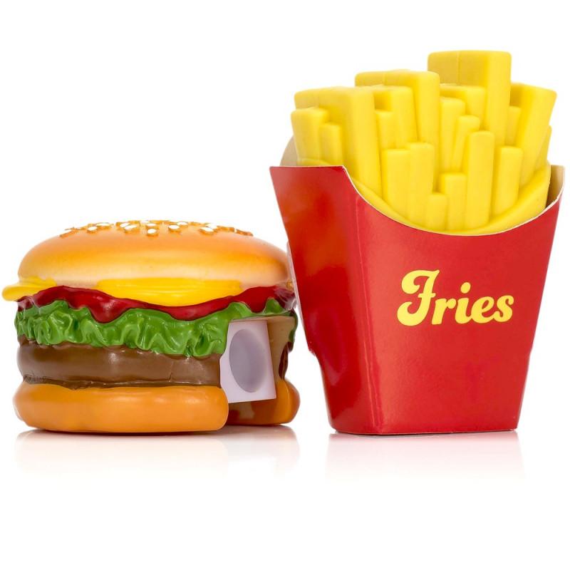 Burger Frites taille-crayon et gomme