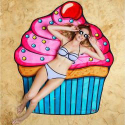 Serviette de plage géante Cupcake