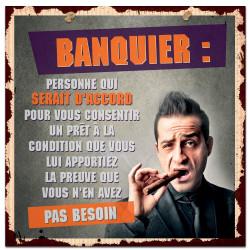 Plaque métal Banquier