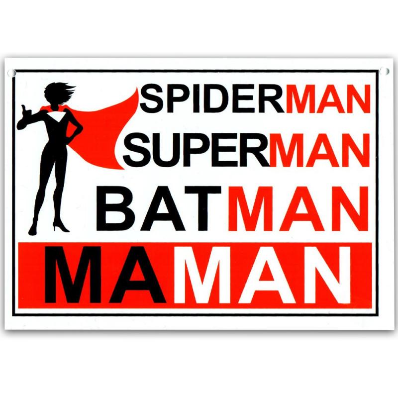 Plaque de porte Maman super-héros