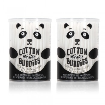 Lot de 2 boîtes coton-tiges Panda