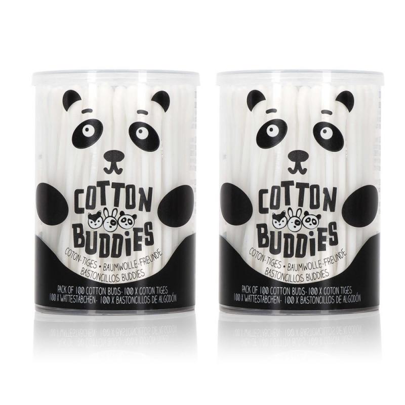Lot de 2 boîtes cotons-tiges Panda