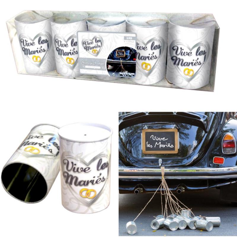 Kit boîtes Vive les mariés pour voiture balai