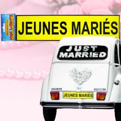Plaque magnétique Jeunes Mariés