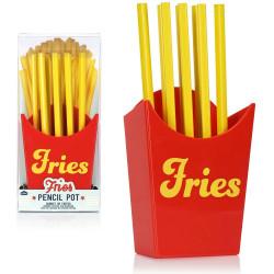 Cornet de frites pot à crayons