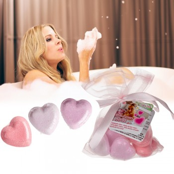 Sachet 10 coeurs effervescents pour le bain