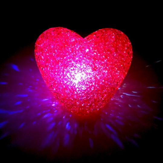 Coeur led couleur changeante