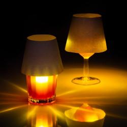 Lampe flottante rechargeable usb avec abat-jour