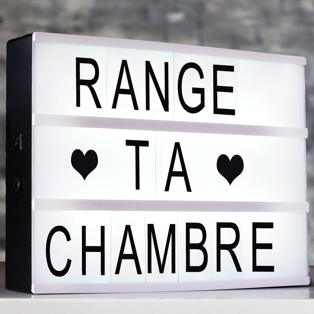 panneau led lightbox a4 lampe messages 17 56. Black Bedroom Furniture Sets. Home Design Ideas