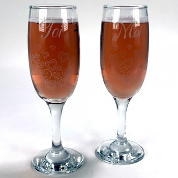 Duo flûtes à champagne Toi et Moi