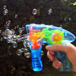 Pistolet mécanique lumineux à bulles