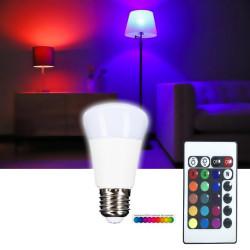 Ampoule led multicolore à télécommande