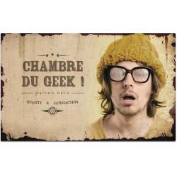 Plaque de porte Chambre du Geek
