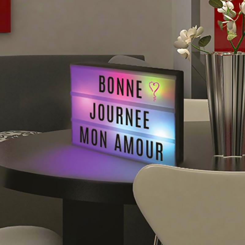 Lightbox A4, Lampe multicolore à messages