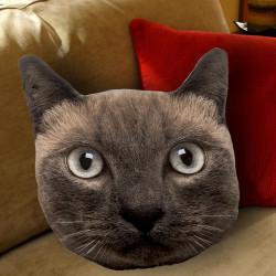 Coussin tête de chat réaliste