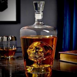 Carafe à whisky tête de mort