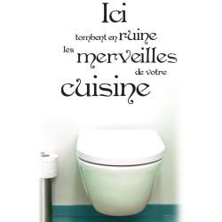 Sticker pour WC Merveilles de votre cuisine