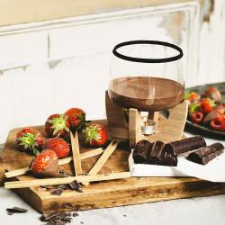 Cocoa, set fondue au chocolat design