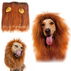Perruque crinière de lion pour chien