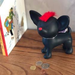 Tirelire chien chihuahua punk