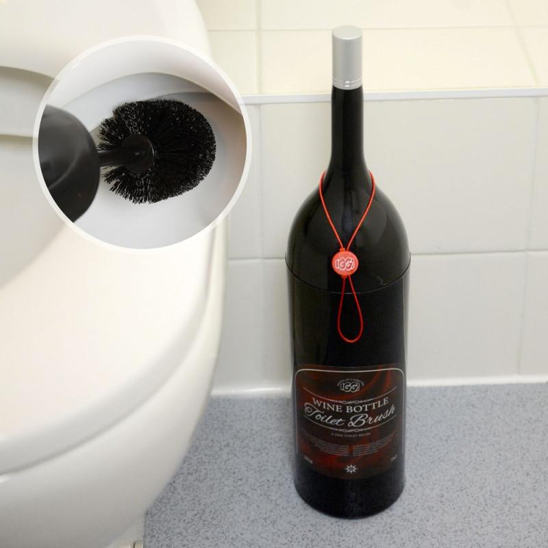 Brosse de toilettes bouteille de vin