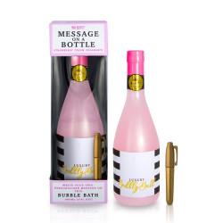 Bain moussant bouteille message personnalisable