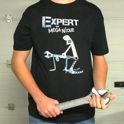 T-shirt humoristique Expert en MégaNique taille L