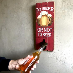 Décapsuleur mural To beer or not to beer