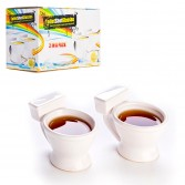 Lot de 2 verres shots WC