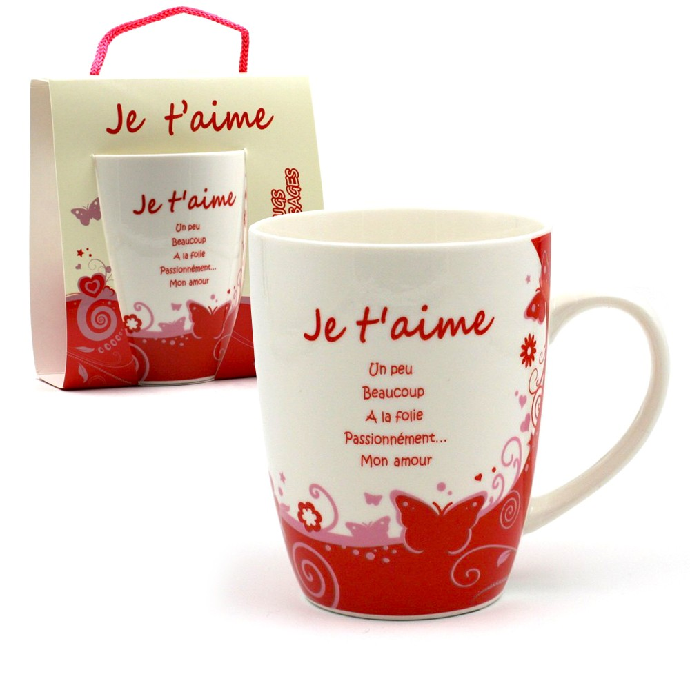 cadeau saint valentin mug offrir je t 39 aime 7 50. Black Bedroom Furniture Sets. Home Design Ideas