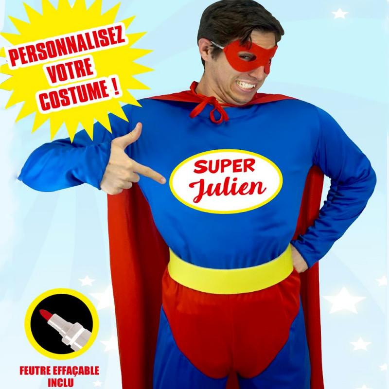 Déguisement Homme Super Héros Personnalisable