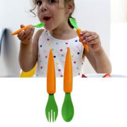 Couverts carottes pour enfant