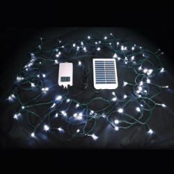 Guirlande solaire 100 leds 10m blanc
