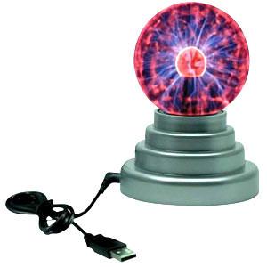 une mini-boule plasma avec prise USB