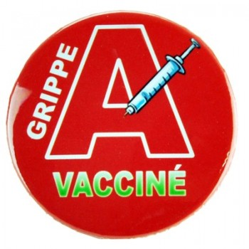 Badge Grippe A Vacciné